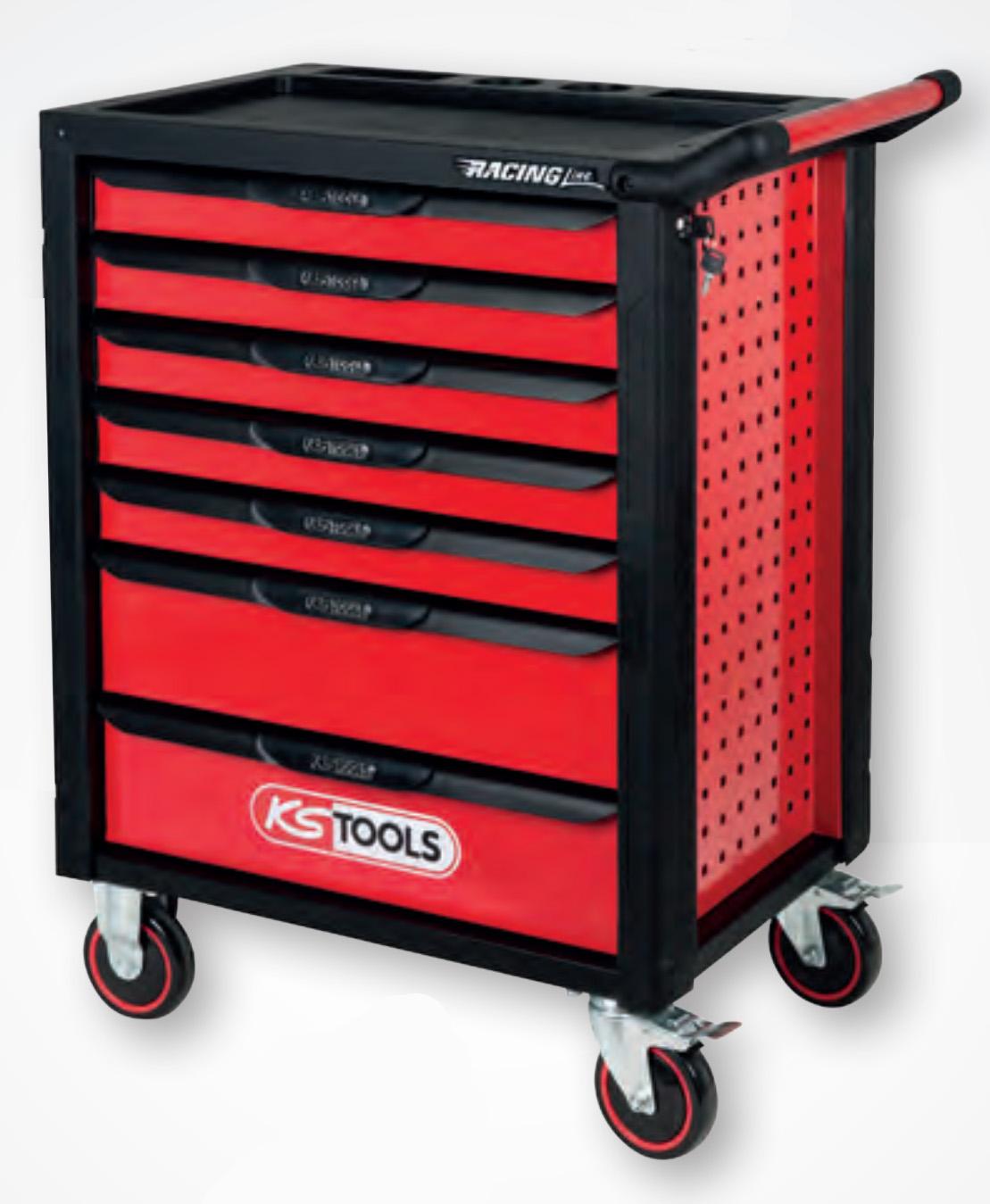 kolica za alat racing line 7 fioka ks tools prodaja alata. Black Bedroom Furniture Sets. Home Design Ideas